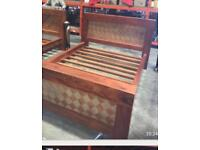 Kingsize solid wood bed retail over £2000