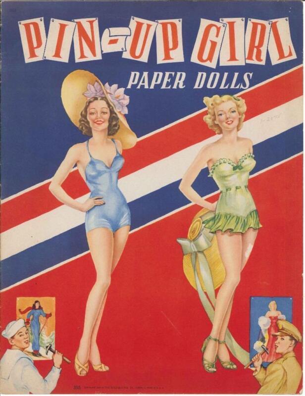 VINTGE UNCUT 1943 Pin-Up PAPER DOLLS HD LASER REPRODUCTION~LO PR