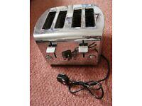 Russell Hobbs 18117 Deluxe Stainless Steel 4 Slice Toaster