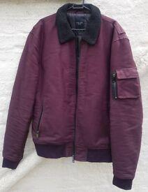 New Look - Casual Aviator - Bomber Mens Jacket Sale - Bordeaux