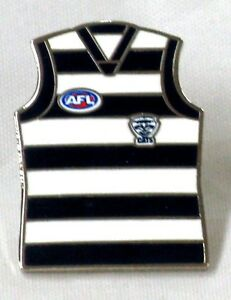 33700-GEELONG-CATS-AFL-TEAM-GUERNSEY-LAPEL-TIE-HAT-PIN