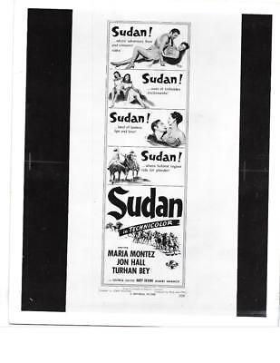 "Maria Montez Jon Hall ""Sudan"" Vintage Movie Still"