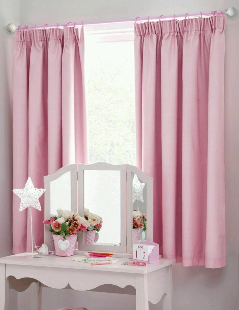Girls Light Pink Curtains In Sandiacre Nottinghamshire
