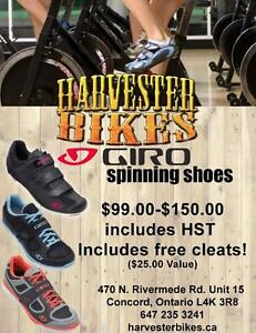 BRAND NEW Giro Road/Spinning Shoes @ Harvester Bikes FREE CLEATS
