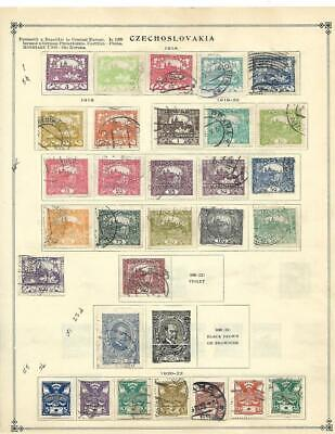 Small Used Czechoslovakia Collection On Scott Album Pages (1918-1938) - SEE!!!