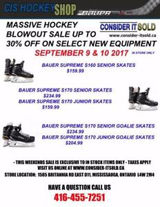 MASSIVE HOCKEY BLOWOUT SALE - IN STORE ONLY - SEPTEMBER 9 & 10 2017 - CIS HOCKEY - 1585 BRITANNIA RD EAST UNIT D11