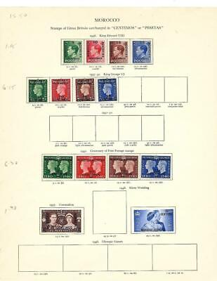 Small Mint GB Offices In Morocco Collection On A Stanley Gibbons Page - SEE!!!