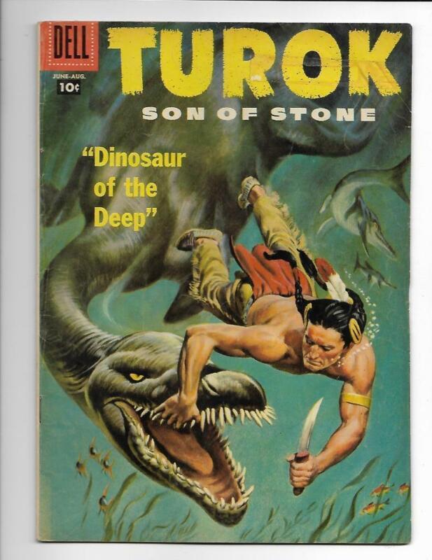 Turok #8 Son of Stone Dell Comics 1957 FREE SHIP