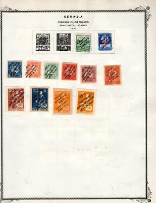 1¢ WONDER ~ GEORGIA RUSSIA M&U ON PAGES ALL SHOWN ~ W415
