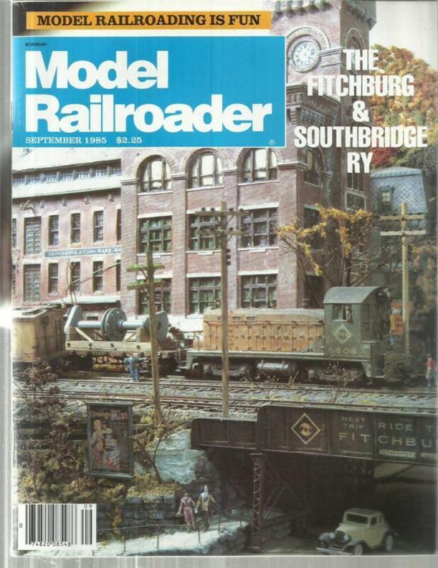 Model Railroader September 1985 Trailer Train 4-Wheel Flatcar & Baby Shay Plans