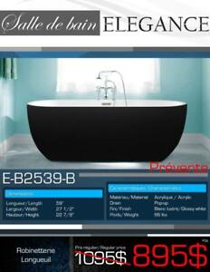 SALE! 59-inch Elegance Freestanding Bathtub, Black, NEW