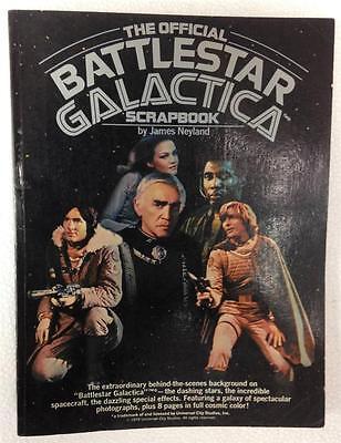 THE OFFICIAL BATTLESTAR GALACTICA 1978 SCRAPBOOK NEYLAND BENEDICT HATCH GREEN