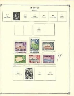 Mint, Used Curacao Collection On Scott Album Pages - SEE!!!
