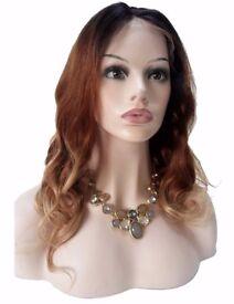 Brazilian Virgin Human Hair Three Tone Wig
