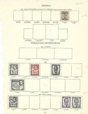 Small Mint Somaliland Protectorate Collection On A Stanley Gibbons Page - SEE!!!