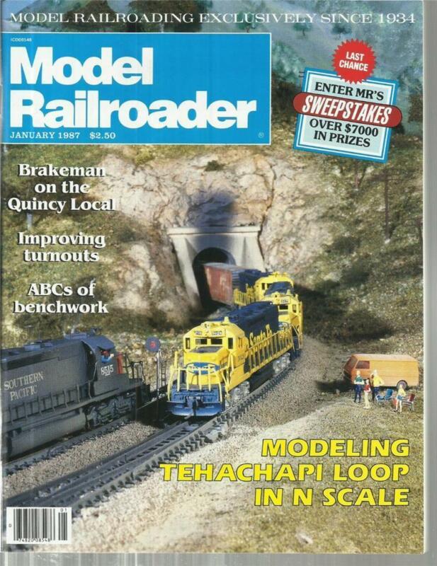 Model Railroader January 1987 Many House Drawings & San Diego 10-Wheeler Engine