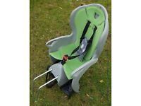 Hamax Kiss Child's Rear Bicycle Seat For Up To 22kg - Grey & Green