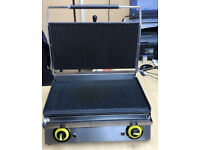 """Silver Panini Contact Grill /Sandwich Toaster 20"""""""
