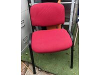 office stacking chair red