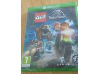 Lego Jurassic World Xbox one game, still sealed, exc condition