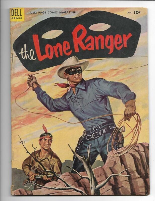 The Lone Ranger 73 1954 Dell Comics FREE SHIP