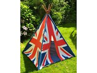 Children's Giant Canvas Teepee/Wigwam Play Tent