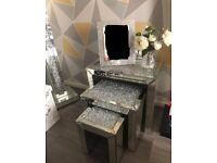 diamond sparkle nest of tables