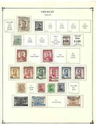 MNH, Mint, Used Uruguay Collection On Scott Album Pages (1940-65) - SEE!!!