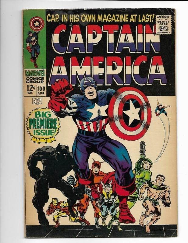 Captain America 100 Premiere Issue Marvel Comics Kirby Art NICE