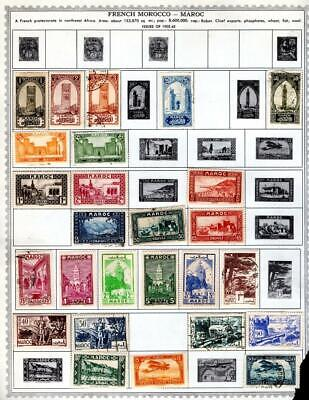 1¢ WONDER ~ FRENCH MOROCCO M&U SMALL LOT ON PAGES ALL SHOWN ~ W430