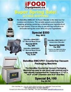 Super Spring Sale - Save up to 40% Off On Blenders, Meat Slicers and Vacuum Packaging Machine