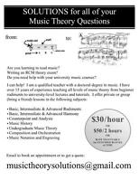 Solutions to all of your Music Theory Questions!