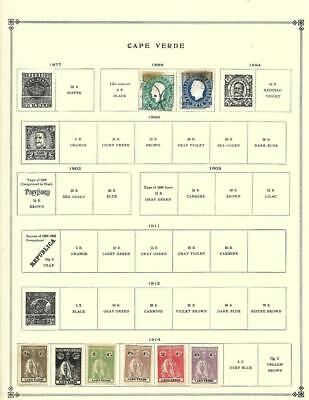 Small MNH, Mint and Used Cape Verde Collection On Various Album Pages - SEE!!!