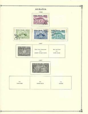 Small Mint, CTO Albania Collection On Scott Album Pages (1956-65) - SEE!!!