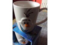 New 3D Frozen Olaf mug