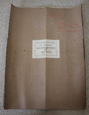 CUNARD WHITE STAR LINE RMS QUEEN MARY TURBO GENERATOR LOG BOOK VOYAGE 294 comprar usado  Enviando para Brazil
