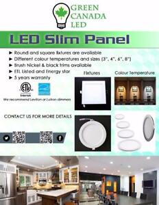 'Final Week' 25% Discount- 4'' LED Slim Panel / Recessed Potlight 9W = 60W, cUL - IC Rated - 5 Years Warranty - 11.49 $