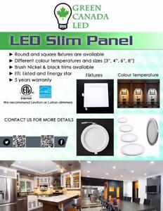 'Final Week' 25% Discount - 4'' LED Slim Panel / Recessed Potlight 9W = 60W, cUL - IC Rated - 5 Years Warranty - 11.49 $