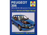 HAYNES PEUGEOT 306 SERVICE REPAIR MANUAL 1993 to 2002 PETROL & DIESEL