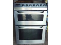 ZANUSSI GLASS TOP DOUBLE OVEN AND GRILL FULLY WORKING ORDER