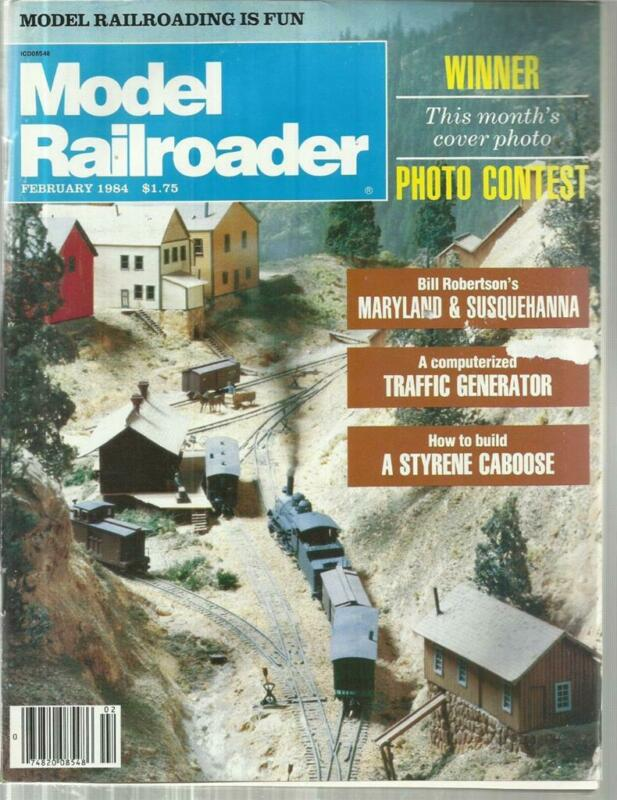 Model Railroader February 1984 D&RGW 8-Wheel Shortie Caboose TT Flatcar Drawings