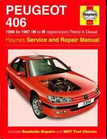 HAYNES PEUGEOT 406 SERVICE & REPAIR MANUAL COVERS PETROL AND DIESEL