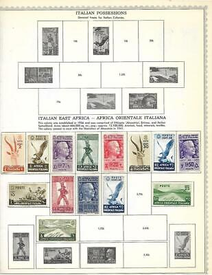 Small Mint Italian East Africa Collection On A Minkus Album Page - SEE!!!