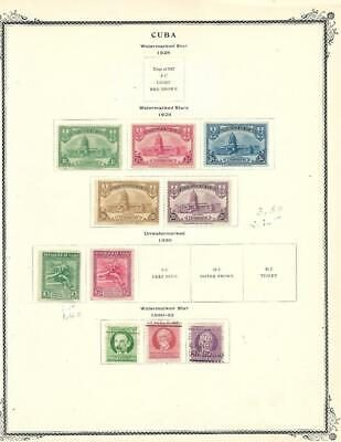 From A Scott Brown (1928-34) -  Small Island Collection On Two Pages - SEE!!!