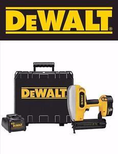 DeWalt Cordless 18 gauge Nailer Nail Gun 18v XRP (DC608K)