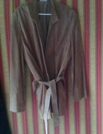 Real suede jacket M&S brand new
