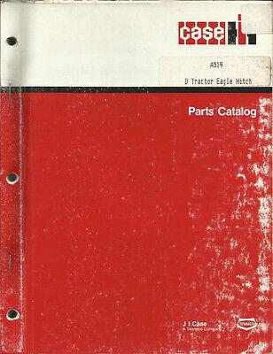 Case D Tractor Eagle Hitch Parts Catalog