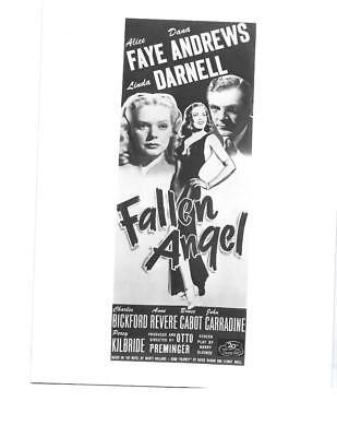 """Alice Faye, Dana Andrews, Linda Darnell """"Fallen Angel"""" Vintage Movie Still"""