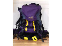 v expensive (RRP £129) unisex trek timberland 50 litre multi use/camping /hiking /holiday /backpack