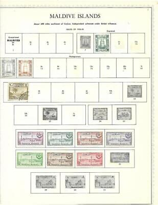 Small Mint Maldive Islands Collection On A Minkus Album Page - SEE!!!